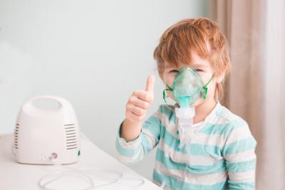Boy Using Nebulizer