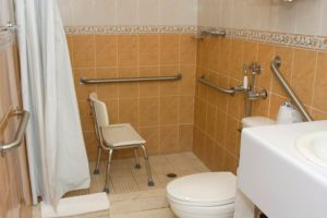 Walk-In Shower With Chair